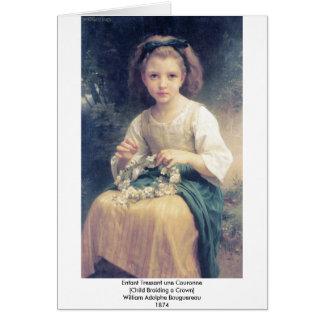 Une Couronne de Bouguereau - de Enfant Tressant Tarjeta De Felicitación