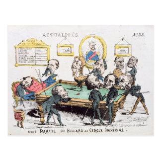 Une Partie de Billard au Cercle Imperial' Post Card