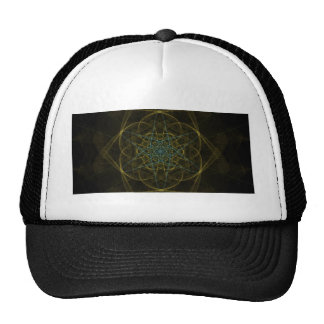 UNEARTHED DIGITAL JEWEL OUTER SPACE RANDOM ABSTRAC TRUCKER HAT