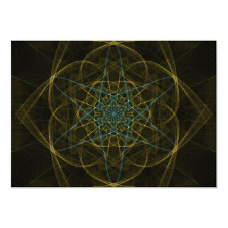 """UNEARTHED DIGITAL JEWEL OUTER SPACE RANDOM ABSTRAC 5"""" X 7"""" INVITATION CARD"""