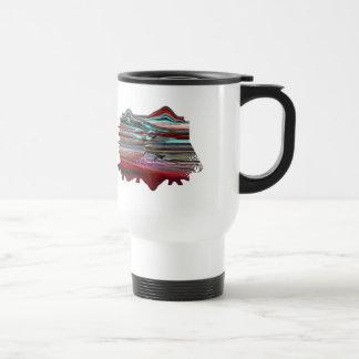 """Unearthly Distortion"" Plastic Travel Mug"