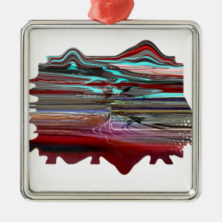 """Unearthly Distortion"" Premium Square Ornament"