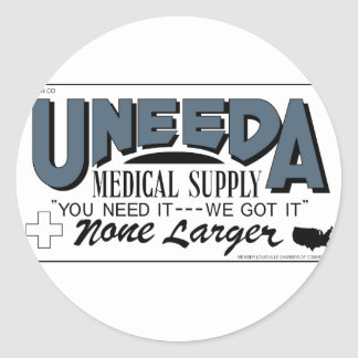Uneeda Medical Supply (Return of the Living Dead) Classic Round Sticker