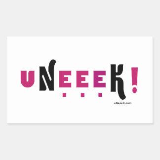 uNeeeK!  Original, Different and ExtraOrdinary! Rectangular Sticker