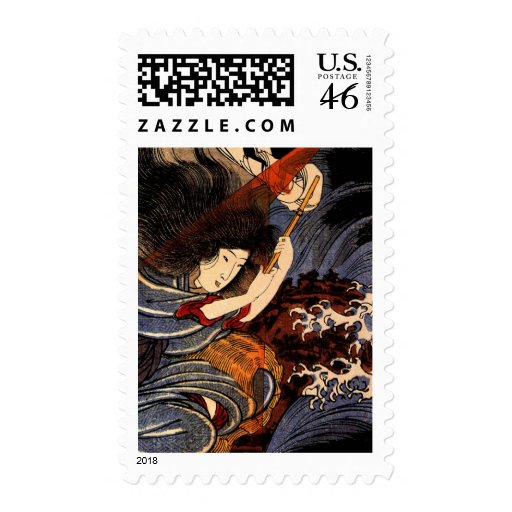 Uneme is exorcising the monstrous serpent postage stamps
