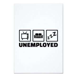 Unemployed couch tv card