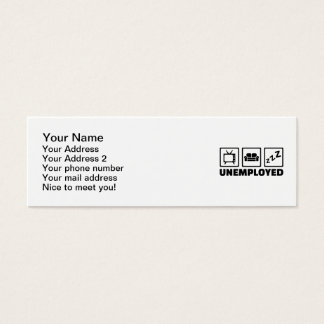 Unemployed couch tv mini business card