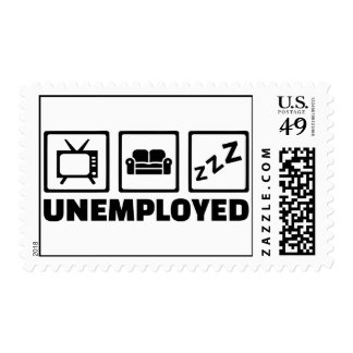 Unemployed couch tv postage
