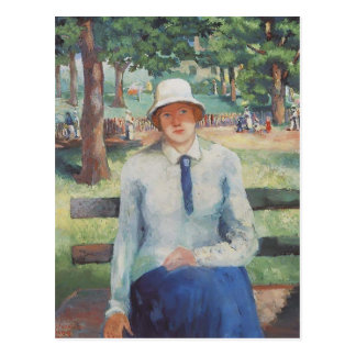 Unemployed Girl by Kazimir Malevich Post Cards