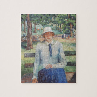 Unemployed Girl by Kazimir Malevich Jigsaw Puzzle