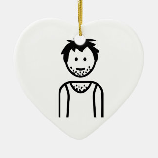 Unemployed homeless person christmas ornaments