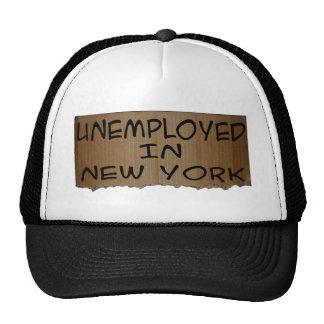 UNEMPLOYED IN NEW YORK TRUCKER HAT