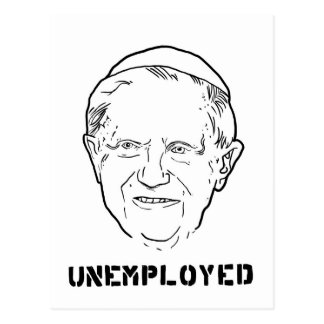 unemployed pope.jpg postcard