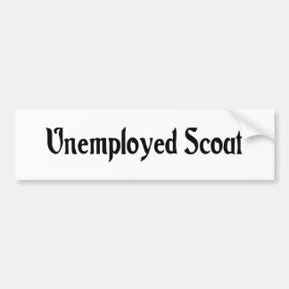 Unemployed Scout Bumper Sticker