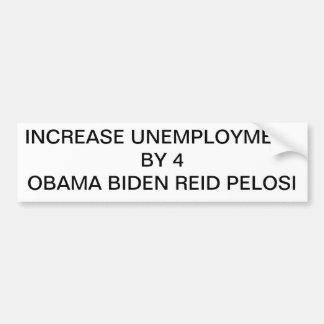 unemployment bumpersticker bumper sticker