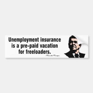 Unemployment Insurance Car Bumper Sticker