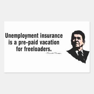 Unemployment Insurance Rectangular Sticker
