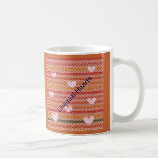 Unequal Hearts Classic White Coffee Mug