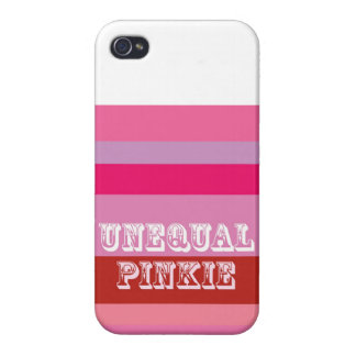 """Unequal Pinkie"" Cases For iPhone 4"