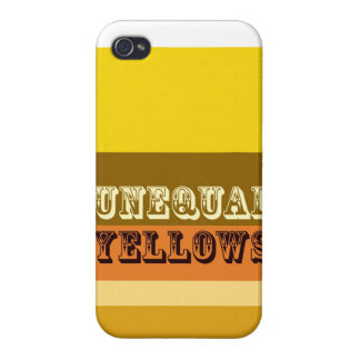 """Unequal Yellows"" Case For iPhone 4"