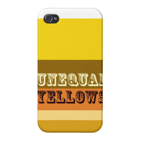 """""""Unequal Yellows"""" Case For iPhone 4"""
