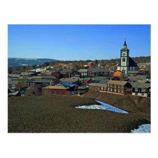 UNESCO site Røros, Norway Postcard
