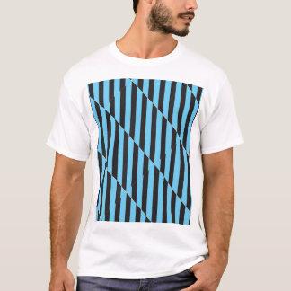 Uneven Blue and Black Stripes T-Shirt