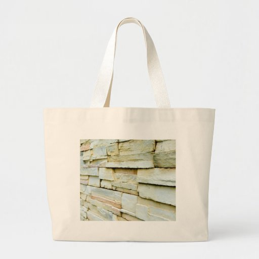 Uneven brick wall jumbo tote bag