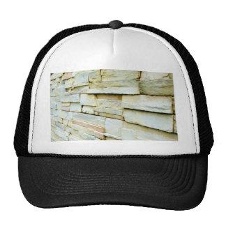 Uneven brick wall trucker hat