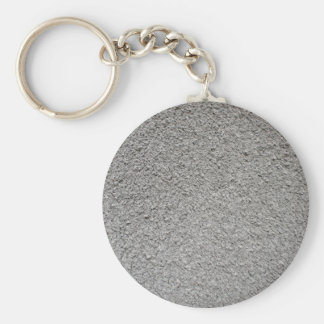 Uneven surface of the gray cement basic round button keychain