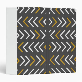 Uneven White and Gold Tracks Vinyl Binder
