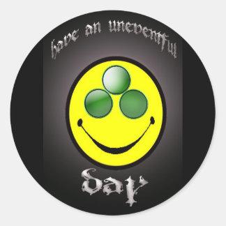 uneventful smiley sticker