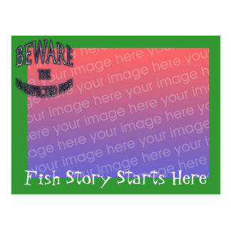 Unexpected Fish Template Postcard