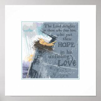"Unfailing Love-Hope  12""x 12"" Print"