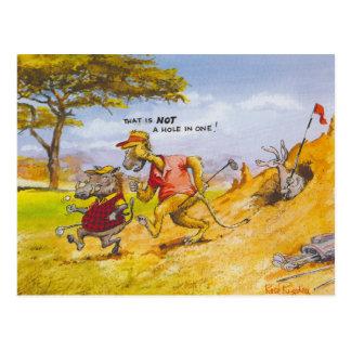 Unfair pig postcard