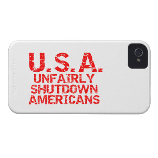 Unfairly  Shutdown Americans iPhone 4 Case