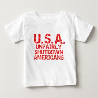 Unfairly  Shutdown Americans Tee Shirts