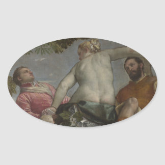 Unfaithfulness by Paolo Veronese Oval Sticker