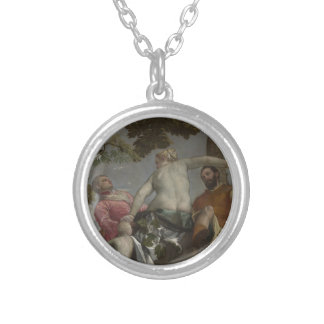 Unfaithfulness by Paolo Veronese Round Pendant Necklace