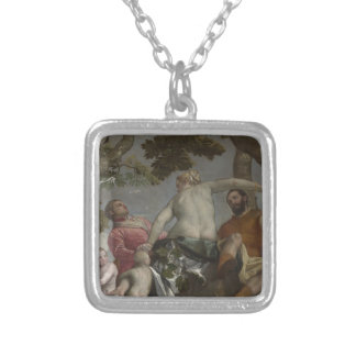 Unfaithfulness by Paolo Veronese Square Pendant Necklace