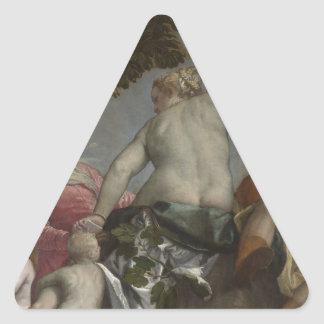 Unfaithfulness by Paolo Veronese Triangle Sticker