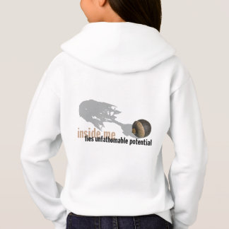 """unfathomable potential"" Girls' HOODIE backprint"