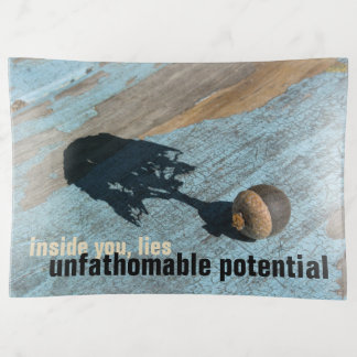 """""""unfathomable potential"""" Glass TRINKET TRAY"""