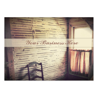 Unfinished Antique Sunlit Window in Attic Large Business Card