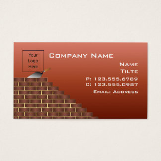 Unfinished Brick Wall Business Card Templates