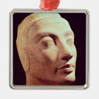 Unfinished head of Nefertiti, New Kingdom Metal Ornament