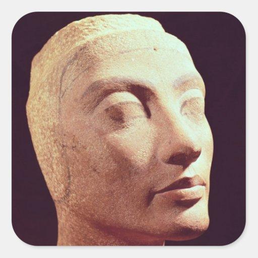 Unfinished head of Nefertiti, New Kingdom Square Sticker