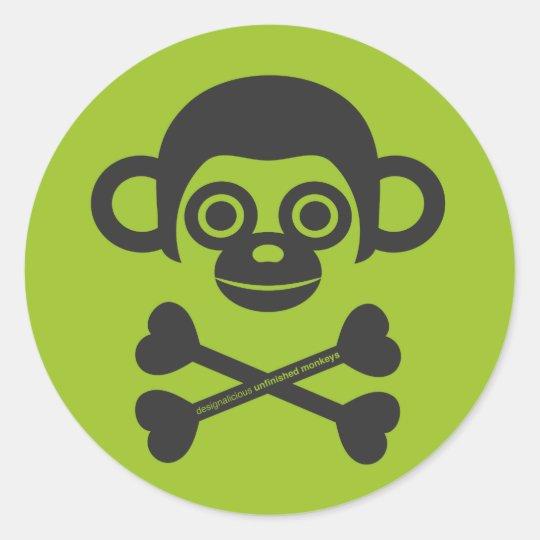 Unfinished Monkeys logo sticker