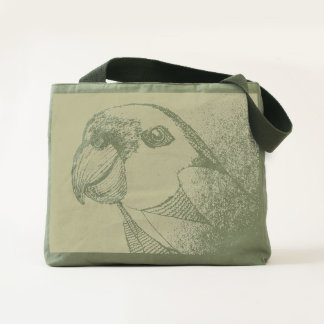 Unfinished Parrot Canvas Utility Tote