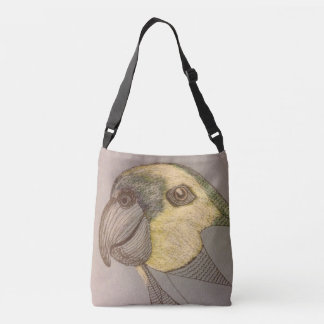 Unfinished Parrot Cross Body Tote